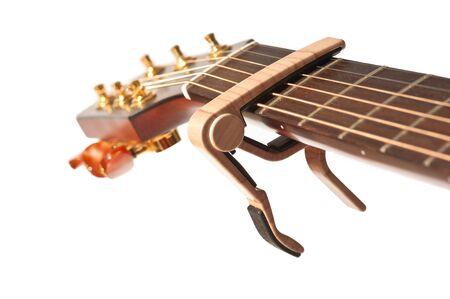 guitar neck with capo