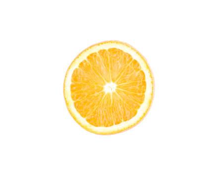 orange on the white Stock Photo