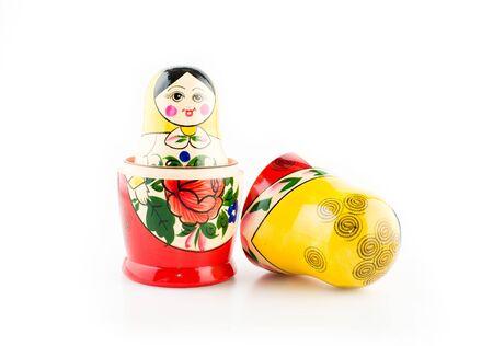 matryoshka doll (isolated on the white) Stock Photo
