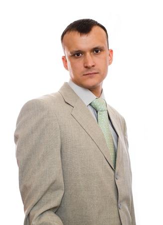 handsom: joven en traje y corbata
