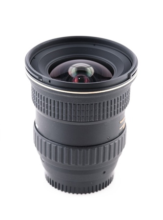 zoom wideangle lens for slr camera (isolated on the white) Stock Photo