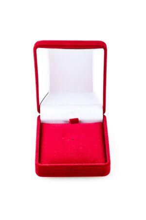 red velvet box (isolated on the white)
