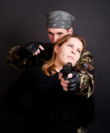 terrorist and hostage Stock Photo - 8476467