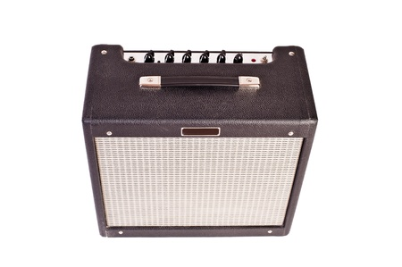 guitar amplifier (isolated on white) Stock Photo
