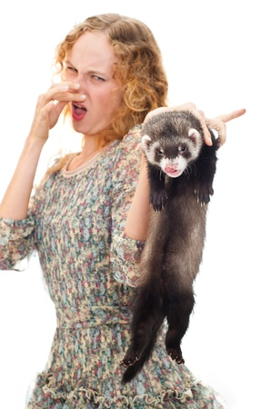 revulsion: girl with the ferret
