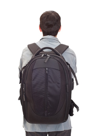 man with a big rucksack