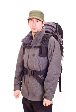 man with a rucksack photo