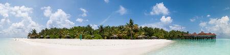 tropical island in the Maldives Stock Photo