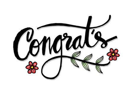 Congratulation hand lettering