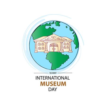 International Museum Day  イラスト・ベクター素材