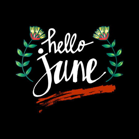 Hello June hand lettering