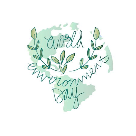 World environment day lettering
