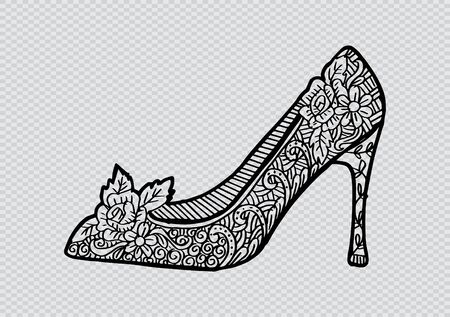 Women's Shoe With Decorative Ornament design 免版税图像 - 99640073