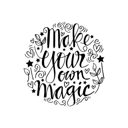 Make your own magic  イラスト・ベクター素材