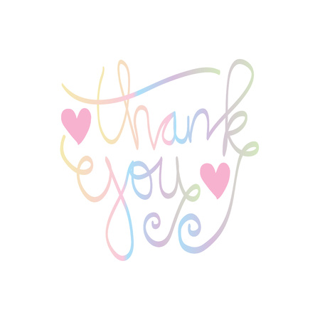 Thank you hand lettering design