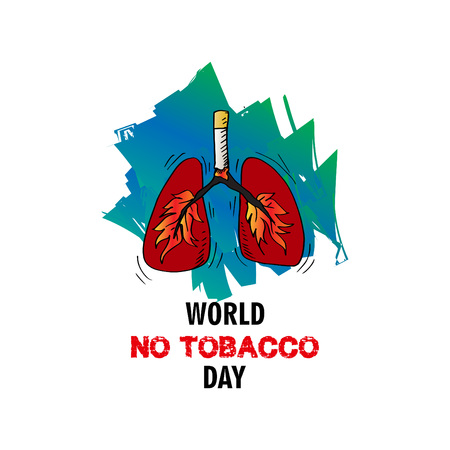 World No Tobacco Day concept