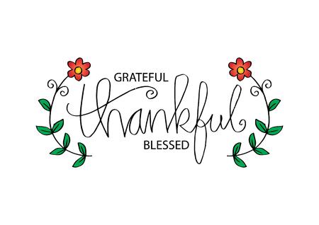 Dankbaar dankbaar gezegend