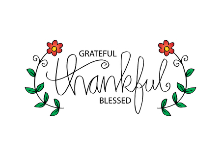 Grateful thankful blessed Illustration