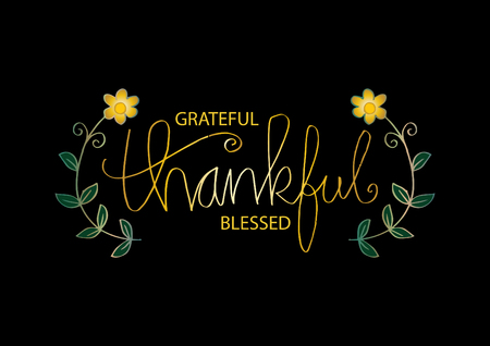 Grateful thankful blessed Illustration