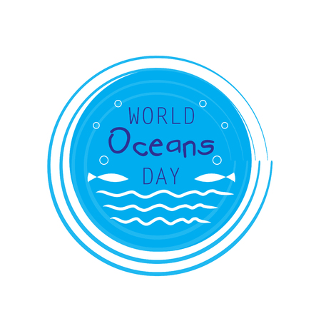 World oceans day concept