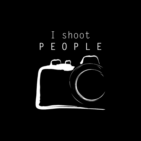I shoot people lettering with camera for shirt design