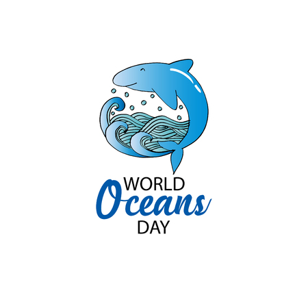 World oceans day concept. June 8 Stock Photo