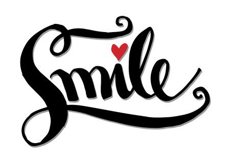 Smile hand lettering