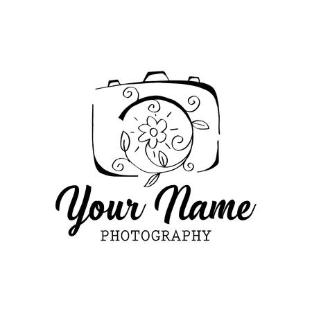 Photo camera logo design