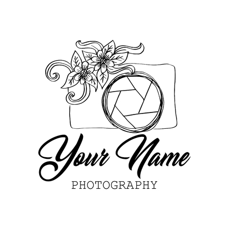 Photo camera logo design