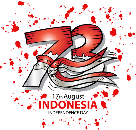73 Years Indonesian Independence day Concept. 17th August.