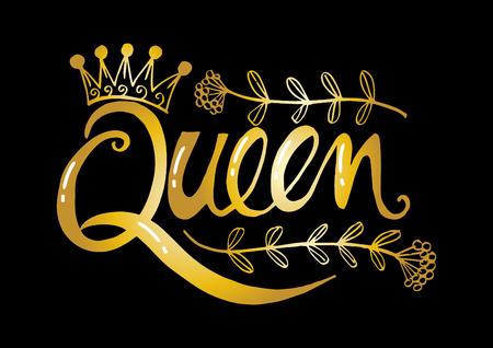 Königin Hand Schriftzug Vektorgrafik