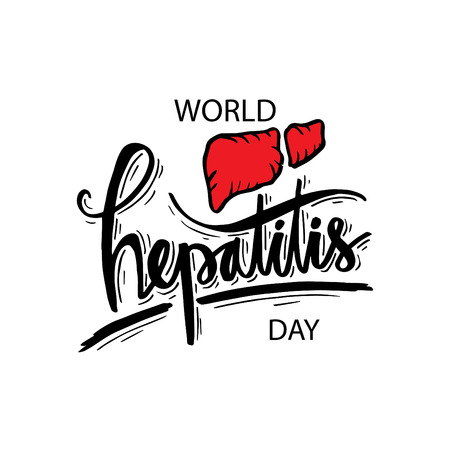 World Hepatitis Day design for medical cards, banners, web backgrounds.
