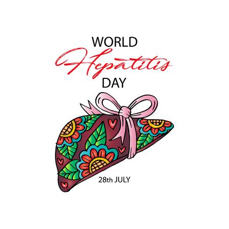 World Hepatitis Day design for medical cards, banners, web backgrounds. Ilustrace