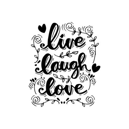 lettrage d'amour de rire en direct. Citation de motivation.