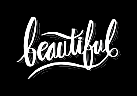 Beautiful hand lettering calligraphy.