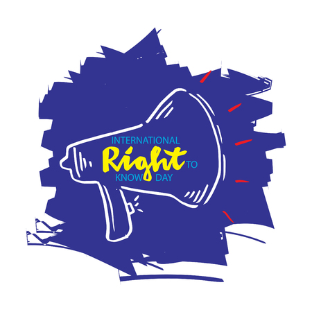 International Right To Know Day concept