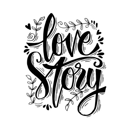 Love story hand lettering