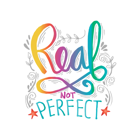 Real not perfect hand lettering Иллюстрация