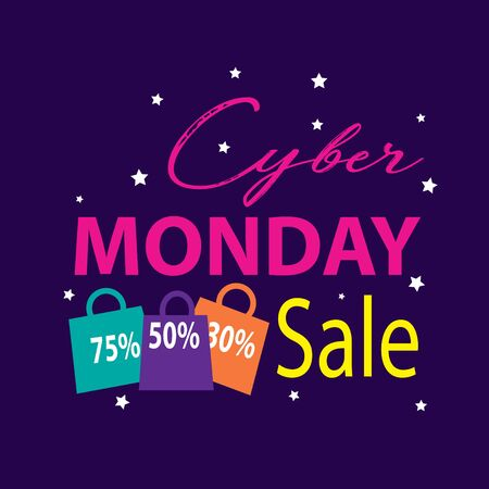 Cyber Monday, discount sale concept.