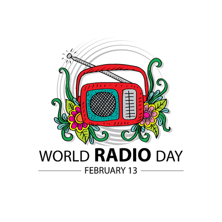 World radio day concept. February 13.
