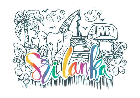 Hand Drawn Symbols Of Sri Lanka
