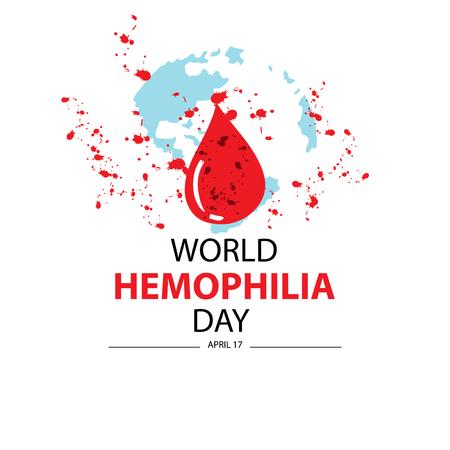 World hemophilia day. April 17. Ilustración de vector