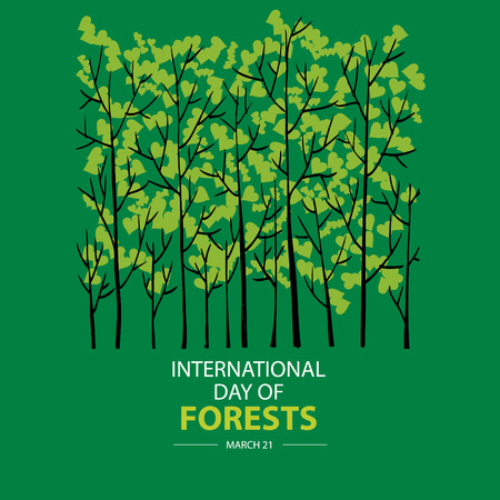 International Day of Forest. March 21 Banque d'images - 118640901