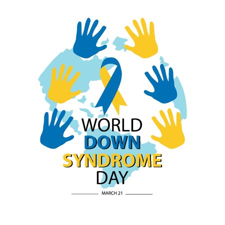 Światowy Dzień Zespołu Downa. 21 marca Ilustracje wektorowe