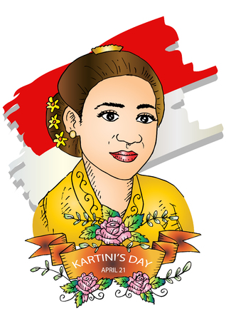 Kartini Day, RA Kartini les héros des femmes et des droits humains en Indonésie. 21 avril.