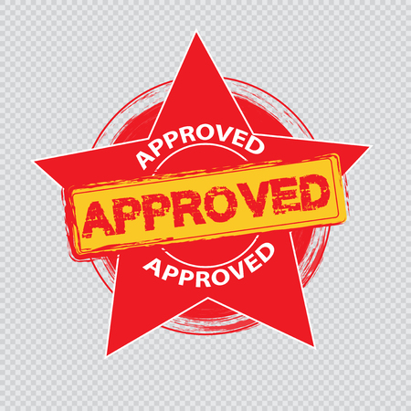 Approved stamp vector Stock Vector - 121180477