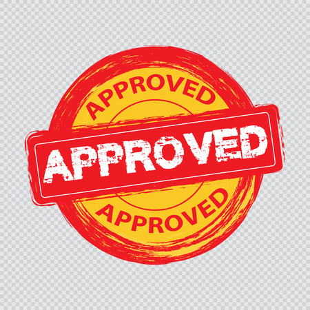 Approved stamp vector Stock Vector - 121180491