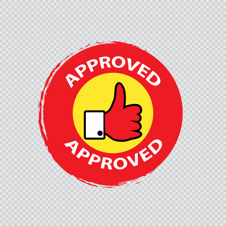 Approved stamp vector Stock Vector - 121180502