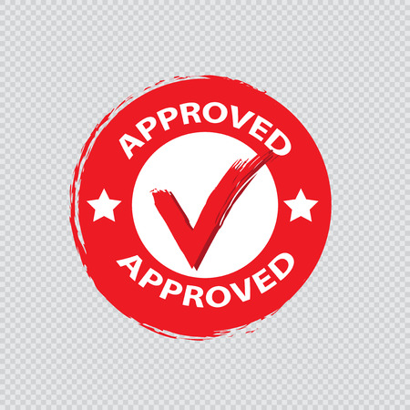 Approved stamp vector Stock Vector - 121180503