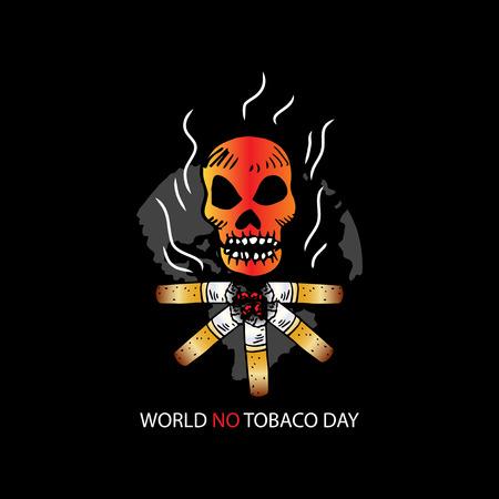World no tobacco day concept